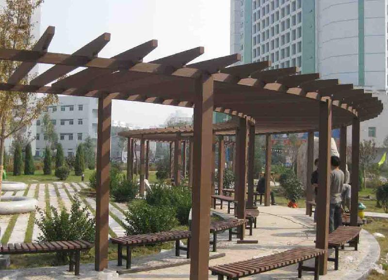 防腐木花架(廊架)-园林绿化