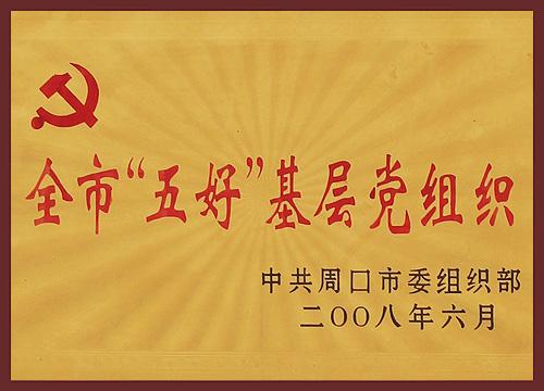 2008年全市五好基层党组织