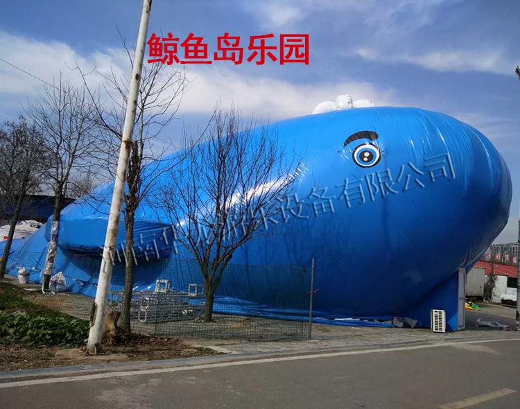 鲸鱼岛乐园 充气鲸鱼