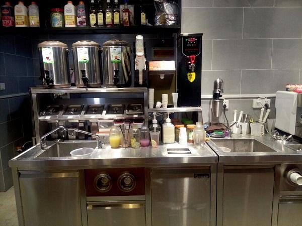 奶茶操作台