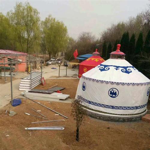 住宿蒙古包安装