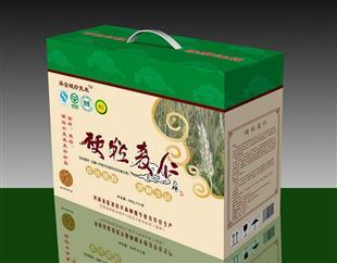 硬粒麦仁纸盒包装设计