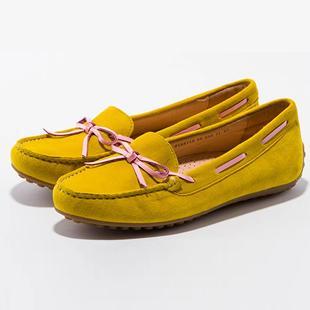 休闲豆豆鞋羊皮平底潮鞋撞色情侣鞋单鞋女鞋子