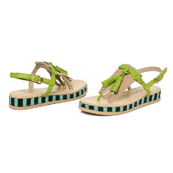 夏季新款平跟休闲凉鞋流苏女鞋