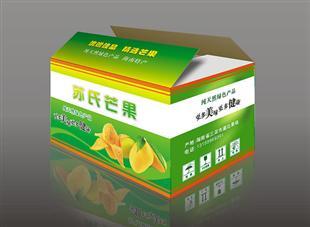 苏氏芒果纸盒包装设计