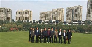 大正地産團隊陪同許昌縣政府領導赴廣州參觀碧桂園項目