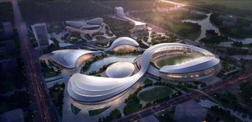 【工程案例】洛陽奧林匹克中心 輕質混凝土項目正在緊張施工中