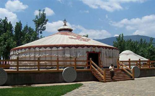 蒙古包地基建设的几种款式