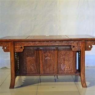 深色木板桌子贴图素材