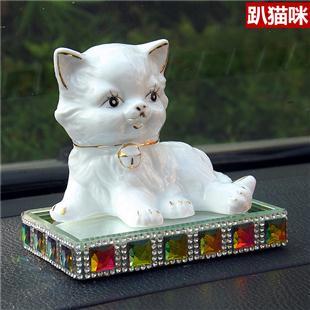 陶瓷猫咪汽车香水座