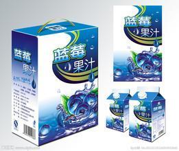 蓝莓果汁纸盒包装设计