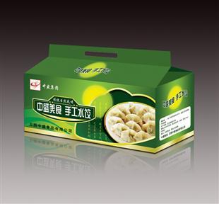 手工水饺纸盒包装设计