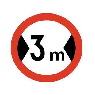 交通限宽标志牌