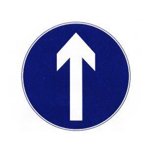 直行标志牌1