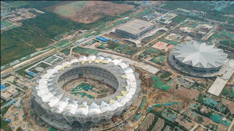 西安奥体中心项目轻集料混凝土工程