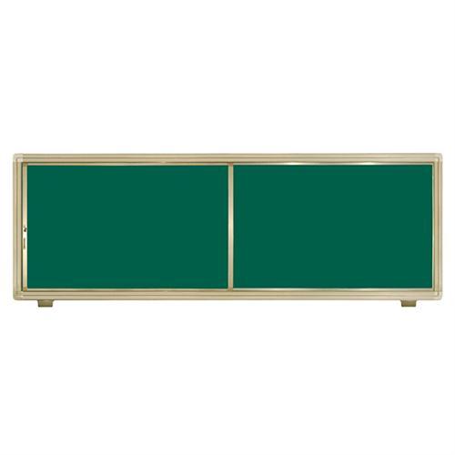 两块侧置推拉黑板