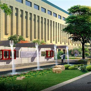 单位附属绿地-产品展示--郑州汉林园林规划设计有限