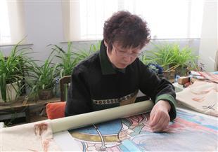 中国刺绣艺术大师程曼萍