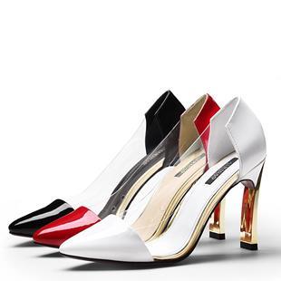2014年春季新款性感透明拼接女鞋