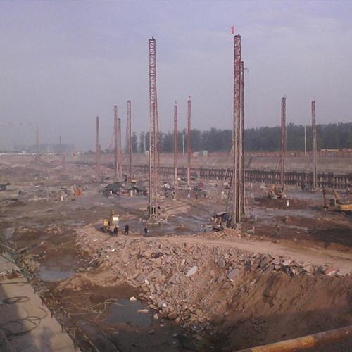 河南煤业化工科研中心项目施工现场