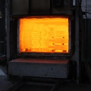 热处理出炉