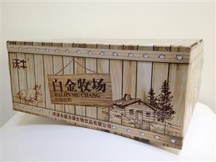 白金牧场乳品纸盒包装设计