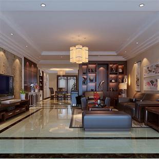 简约中式客厅装修设计图 古典简