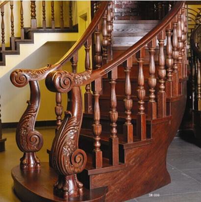 周口楼梯-君义楼梯- 实木楼梯扶手怎么样