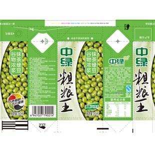 250ml中绿粗粮王抹茶绿豆