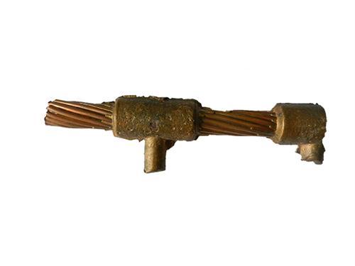 镀铜绞线和接地棒链接