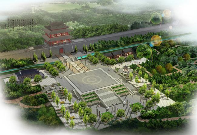 产品展示 城市园林景观设计 新密古城规划