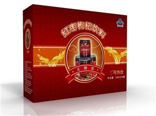 红枣枸杞饮料纸盒包装设计