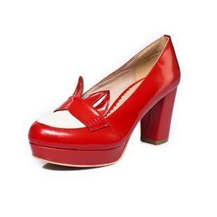 2013秋季新款高跟浅口单鞋粗跟女鞋