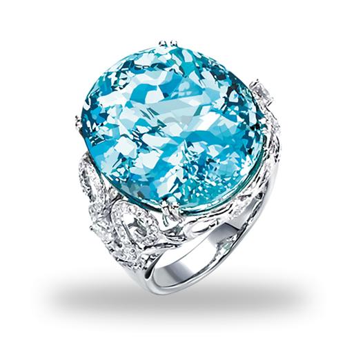 海蓝宝戒指