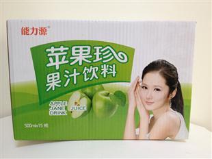 苹果珍果汁饮料纸盒包装设计