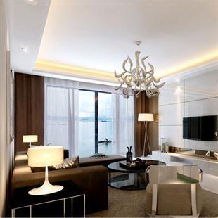 室内家装设计现代个性客厅电视墙装