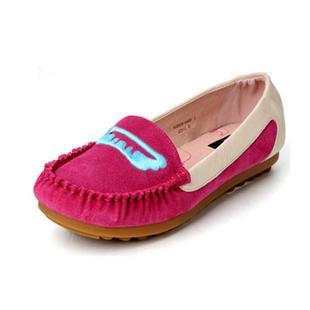 女鞋磨砂牛皮豆豆鞋孕妇鞋深口平跟休闲单鞋