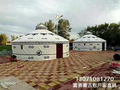 豪华木制蒙古包 蒙古
