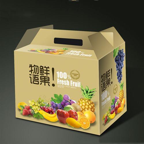 苹果包装箱设计图案展示