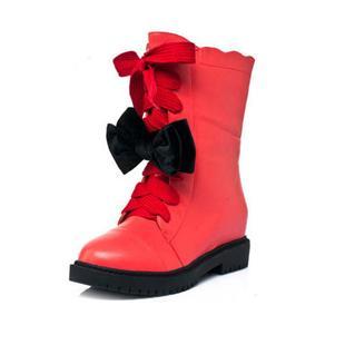 甜美公主靴子时尚可爱女秋冬中筒靴潮