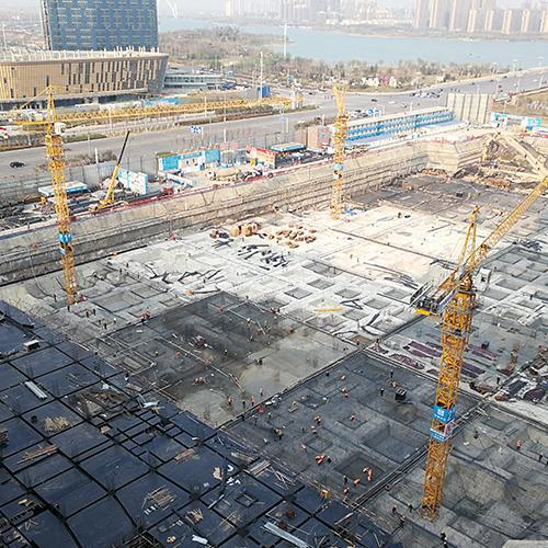 开封大宏万达广场项目施工现场