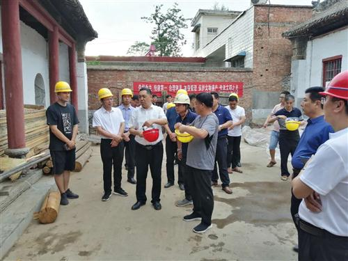 嵩县县委书记及各界领导、文物专家视察我公司工程
