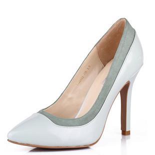 2014春季新款女士高跟单鞋 韩版尖头漆皮真皮女鞋