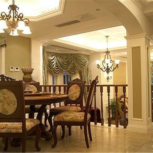 室内家装简欧美式风格,复式楼装修