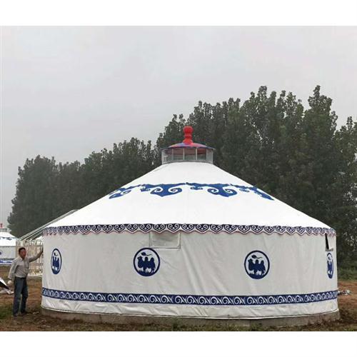 白色豪华钢塑蒙古包